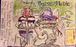 Starbucks Customers Edgewood Shopping Center Atlanta