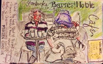 Starbucks Customers Edgewood Shopping Center Atlanta