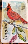 Cardinal Watercolor 5x8 $125