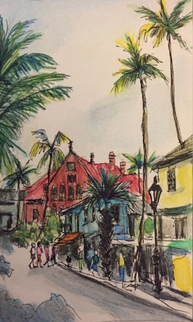 Customs House (For Sale!!) Watercolor $125