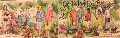 Dachsuhund Parade, Key West Prints will be available soon