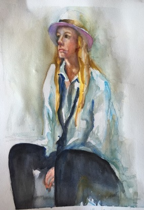 Ellie For Sale Watercolor Half Sheet