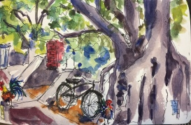 View from El Meson De Pepe Key West Key West Prints will be available soon Watercolor Prints will be available soon