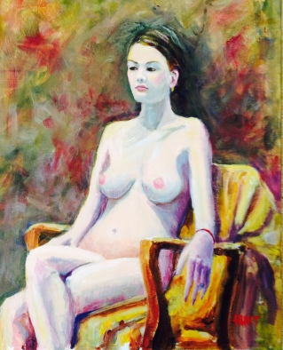 Erica Acrylic Gallery Wrapped Canvas 18x24 $450