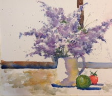 Hydrangeas2 Watercolor $200 12x15