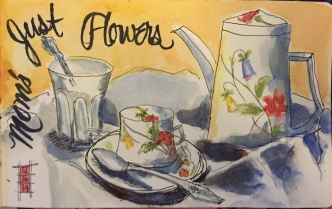 Just Flowers Watercolor 5x8 $125