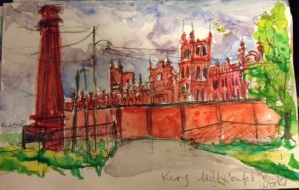 King Mill Watercolor 6x8 $100