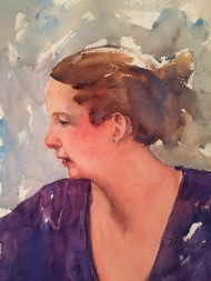 Lee Anne Watercolor Half Sheet Sold