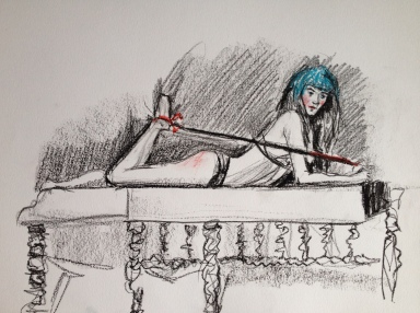 Queen April Mixed Media Dr. Sketchy's $400