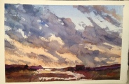 "Sunrise Watercolor  7.5x11"" $200"