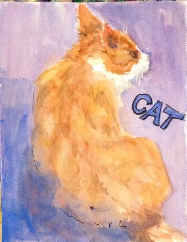 Tom Cat Ink 4x5 $50