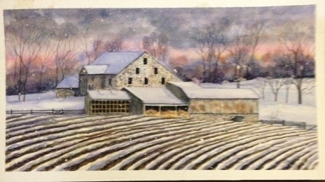"Zugs Farm Watercolor 9x14"" $250"